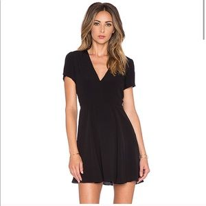 Lovers + Friends Cassidy black skater mini dress